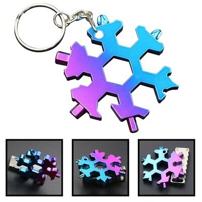 19-in-1 Multi Function Wrenches Compact Outdoor Snowflake Tool Card Key Chain
