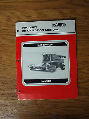 Massey Ferguson 8560 Combine Product Information Manual Collectible