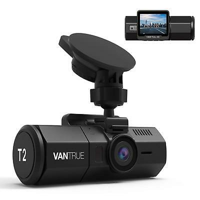 Vantrue T2 24/7 Surveillance Super Capacitor Dash Cam 1080P, Night Vision, DVR
