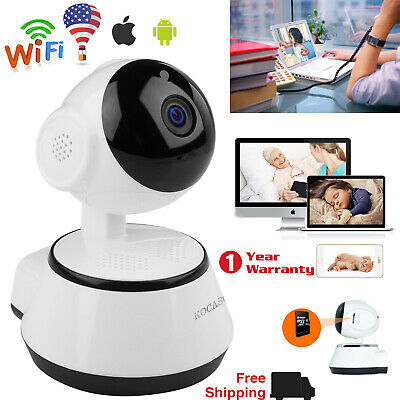 Wireless Pan Tilt Network Home CCTV IP Camera IR Night Vision WiFi Webcam USA