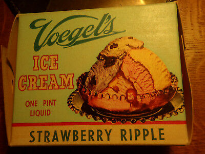 Faribault Minn Advertising Voegels Ice Cream Carton Vintage Nos 1 Pint