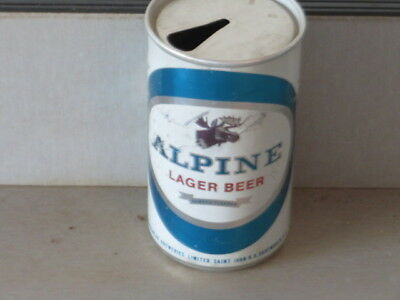 Alpine Lager Beer.  Really Nice Difficult. Alumimum.  Canadian. Tab