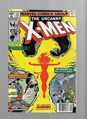 X-MEN 125 PHOENIX 9.4 / 9.6 Bronze Age Glossy Cover Comic White Pages
