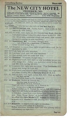 1915 BB3 Ad The New City Hotel Frederick Maryland C B COX