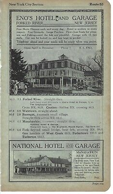 1915 BB3 Ads National Hotel Manahawkin New Jersey Eno's Hotel Forked River NJ