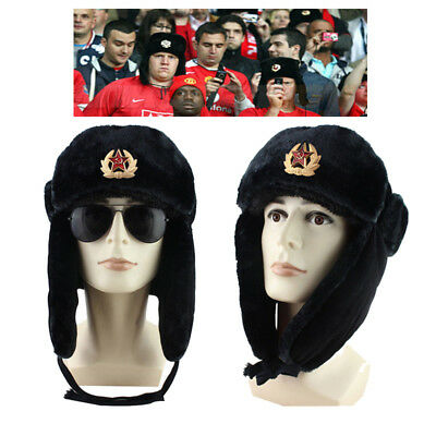 9e3c71002 RUSSIAN SOVIET SOLDIER Winter Hat Ushanka With Soviet Army Badge For Fans US