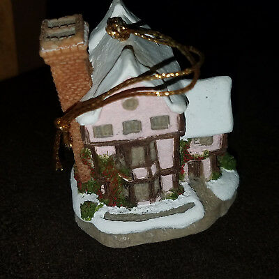 David Winter Cottages Suffolk House Christmas ornament (old store display stock)