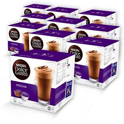BULK NESCAFE Dolce Gusto Mocha 10 boxes 80 Coffee and Milk Pods Capsules