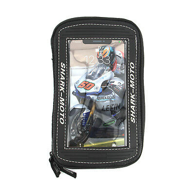 """Lexin Sportbike Magnetic Motorcycle  5.7"""" Pouch  Black Phone Holder Tank Bag"""