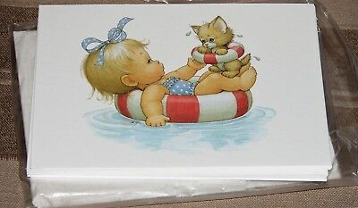"Ruth/Bill Morehead Bitty Beachcombers 2 Package 12 Each Note Cards..4"" by 5 1/2"""