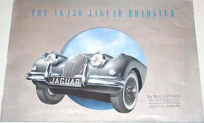 1958 JAGUAR XK 150 & 150S Roadsters foldout ORIGINAL sales brochure