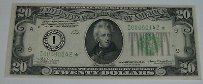 1934 Minneapolis $20 Dollar Federal Reserve Star Note