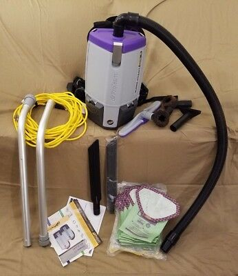 ProTeam Super Coach Pro 6 QT Commercial Backpack Hepa Vacuum Cleaner