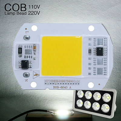 10pcs High Power LED Lamp Floodlight COB SMD Bulb Chip DIY 20W 50W 110v 220v