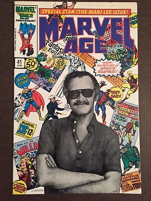 MARVEL AGE 41 STAN LEE PHOTO COVER COMIC BOOK 1986 Spider-Man The Avengers Thor