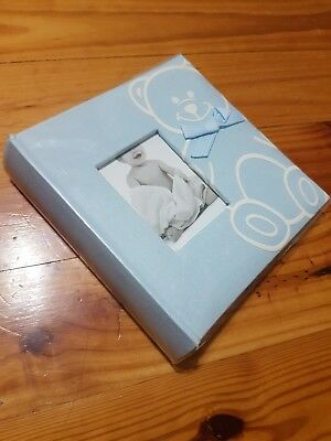 Baby Boy Blue Bear Slip In Photo Album Book
