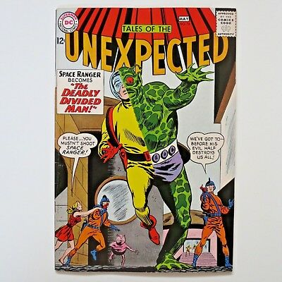 Tales of the Unexpected 76 Silver Age comic book VF- 7.5 5/63 Divided Man Space