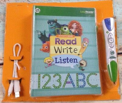 Leap Frog LeapReader Tag Pen, USB Cable, Activity Book - New Damage/NO Box