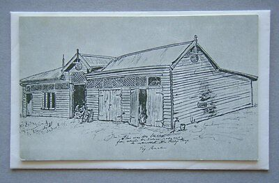 Original Police Stables Mansfield by Peg Martin Greeting Card