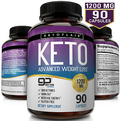☀ Best Keto Diet Pills 1200mg BHB Salts - Advanced Ketosis Weight Loss Capsules