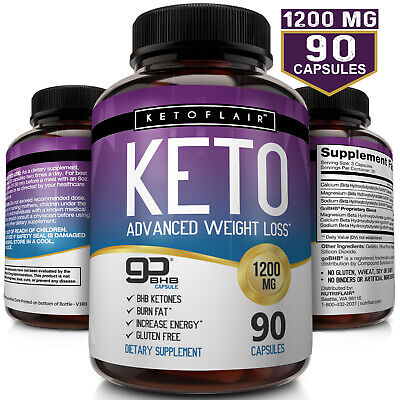 ☀ Best Keto Diet Pills 1200mg GoBHB® 90 Capsules -Weight Loss Perfect Fat Burner