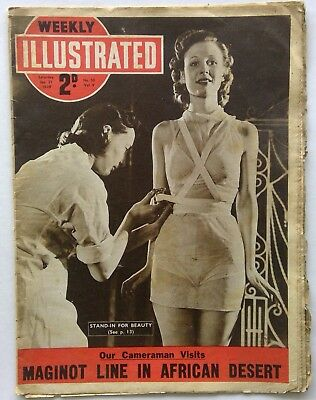 Weekly Illustrated Vol. V No. 30 Jan 21 1939 Stand-In Beauty Maginot Magazine