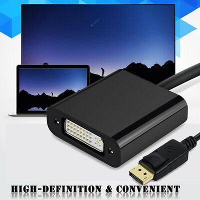 Display Port DP Male to DVI Female Converter Video Audio Adapter Cable for PC TV