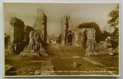 The Choir From Edgar Chapel Glastonbury Abbey Valentines G.8474 Postcard (P307)