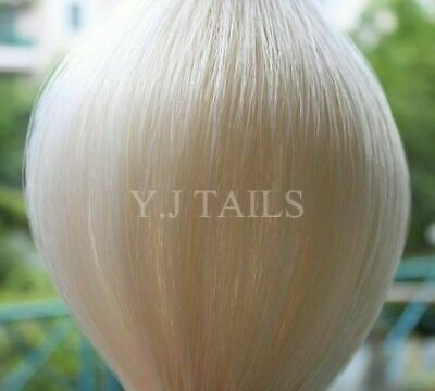 """Pure White Horse Tail Extension Hair 3/8Lb 28-30"""" AQHA W1S w/ FREE BAG YJ TAILS"""