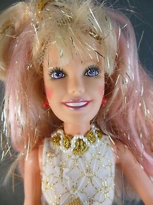 1980's Hasbro Glitter'n Gold JEM of the Holograms Original Outfit Doll 4001 #111