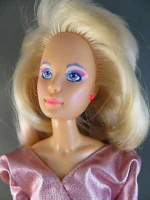 1980's Working JEM/JERRICA of the Holograms Original Pink Outfit Doll 4000 #125