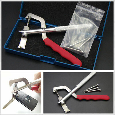 Universal Car Remote Key Blade Pin Disassembling Clamp Pilers Lock Tool With Box