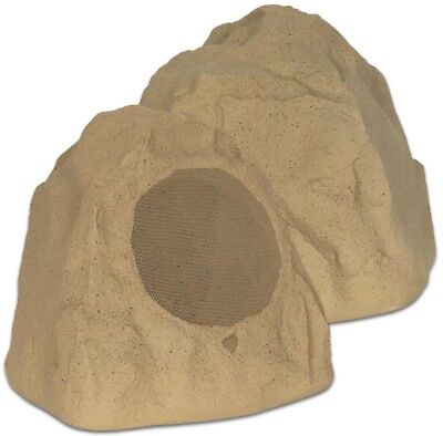 Theater Solutions by Goldwood Outdoor Sandstone 8 in. Rock 2-Speaker Set for