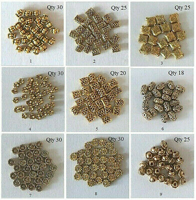 1 packet of goldplated metal beads