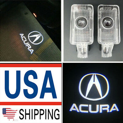 Projector Lights For ACURA TLX RLX MDX TL ZDX LED Laser Door Logo Ghost Shadow