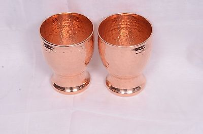 Pure Solid Copper Drinking Glass Mug Cup or Bar Tabletop Useful for Health