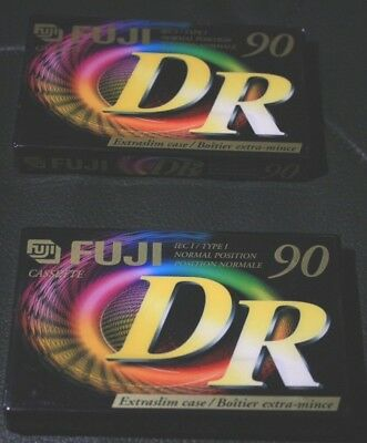 Fuji DR 90 x 2 Blank Cassettes Factory Sealed