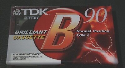 TDK B90 factory sealed Cassette