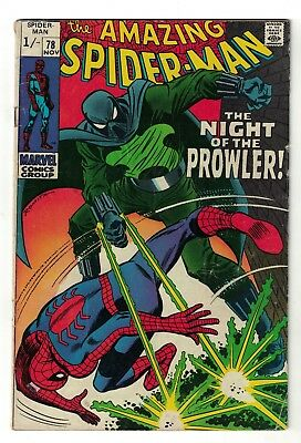 Marvel comics Amazing Spiderman 78  1st Prowler FN- 5.5 1969 silver age