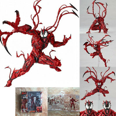 New Marvel Carnage Red Venom No. Revoltech Series PVC Action Figure Toy 2018