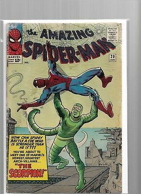 Amazing Spider Man 20 FN- Scorpion Silver Age Glossy Cover Comic