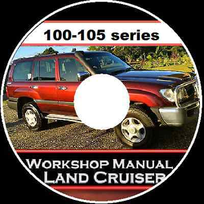 Toyota Land Cruiser 100-105 Hzj Fzj Uzj Hdj Series Workshop Service Manual Cdrom