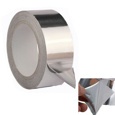 50mmx17m Aluminium Foil Self Adhesive Heat Insulation Tape Duct UK