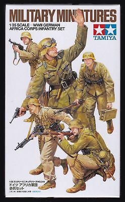 Tamiya Wwii German Africa Corps Infantry Set - Kit Montaggio 1/35 - Item 35314