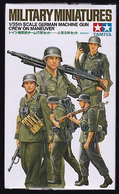 Tamiya German Machine Gun Crew On Maneuver - Kit Montaggio 1/35 - Item 35184