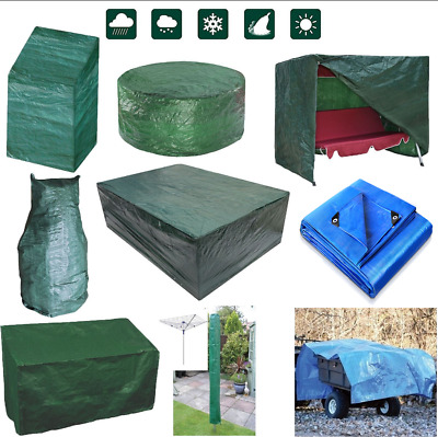 Heavy Duty Garden Furniture Waterproof Covers Table Bench Tarpaulin Ground Sheet