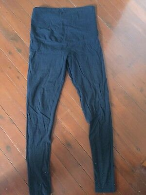 Bub2b Black Leggings Size 10, Over Bump