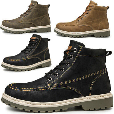 Men's Outdoor Work Boots Winter Leather Boot Lace up Waterproof Snow Boot Lot