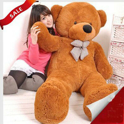 1.6m 160cm Tall Giant Teddy Bear Stuffed Plush Doll Xmas Birthday Gift Brown