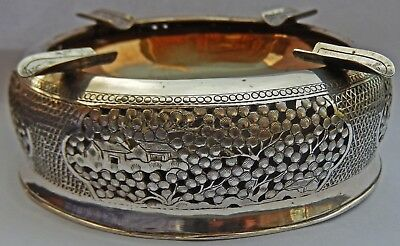 Fine Quality Antique Indo Chinese Vietnamese Solid Silver Ash Tray